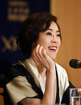 "April 26, 2018, Tokyo, Japan - Japanese actress Shinobu Terajima speaks before press for her movie ""OH LUCY!"" directed by Japanese film maker Atsuko Hirayanagi at the Foreign Correspondents' Club of Japan in Tokyo on Thursday, April 26, 2018. The movie will be screening in Japan from April 28.   (Photo by Yoshio Tsunoda/AFLO) LWX -ytd-"