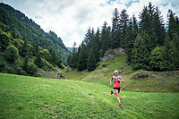 Trail running a loop from Fionnay, to Col des Ottans, to Cabane de Pannosiere and back to Fionnay, Val de Bagnes, Switzerland.