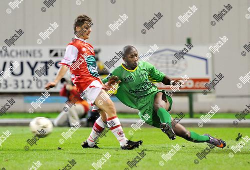 2011-10-15 / Voetbal / seizoen 2011-2012 / R. Antwerp FC - KV Oostende / Antun Dunkovic (L, Antwerp) met Daby Gueye..Foto: Mpics