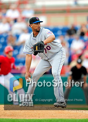 1 March 2011: New York Mets' pitcher Pedro Beato in action during a Spring Training game against the Washington Nationals at Space Coast Stadium in Viera, Florida. The Nationals defeated the Mets 5-3 in Grapefruit League action. Mandatory Credit: Ed Wolfstein Photo