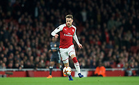 Aaron Ramsey of Arsenal during the UEFA Europa League QF 1st leg match between Arsenal and CSKA Moscow  at the Emirates Stadium, London, England on 5 April 2018. Photo by Andrew Aleksiejczuk / PRiME Media Images.