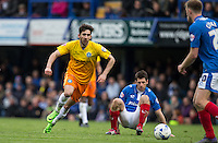Max Kretzschmar of Wycombe Wanderers chases the ball during the Sky Bet League 2 match between Portsmouth and Wycombe Wanderers at Fratton Park, Portsmouth, England on 23 April 2016. Photo by Andy Rowland.