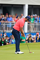 Jon Rahm (ESP) putts to win the tournament on the 18th green during Sunday's Final Round of the Dubai Duty Free Irish Open 2019, held at Lahinch Golf Club, Lahinch, Ireland. 7th July 2019.<br /> Picture: Eoin Clarke | Golffile<br /> <br /> <br /> All photos usage must carry mandatory copyright credit (© Golffile | Eoin Clarke)