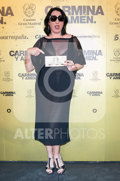 "Spanish actress Rossy de Palma attend the Premiere of the movie ""Carmina y Amen"" at the Callao Cinema in Madrid, Spain. April 28, 2014. (ALTERPHOTOS/Carlos Dafonte)"