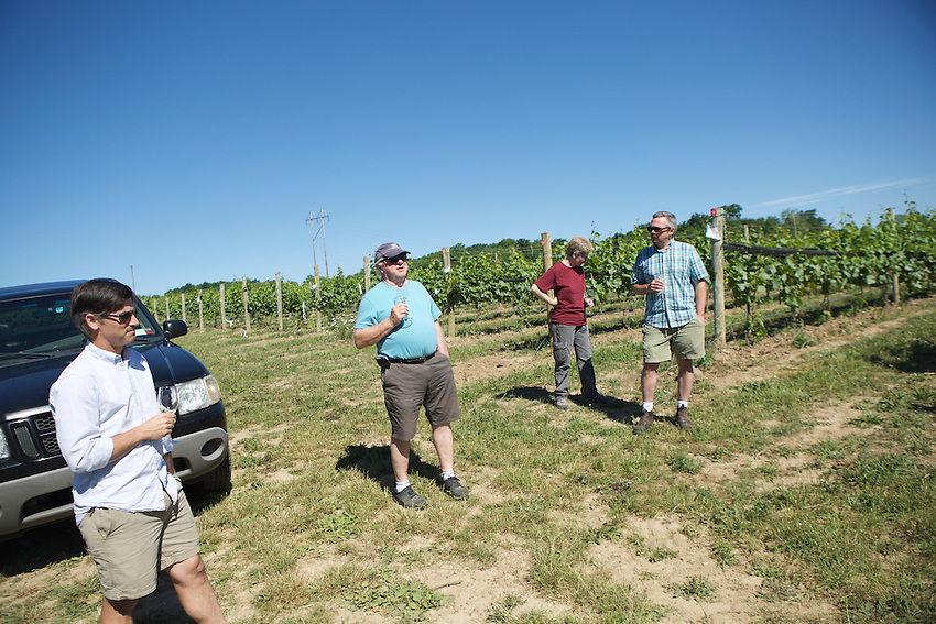 Pen Yan, NY - June 21, 2016: The New York Wine and Grape Foundation bring New York City sommeliers and wine buyers to the Finger Lakes region as part of its NY Drinks NY program.<br /> <br /> CREDIT: Clay Williams.<br /> <br /> &copy; Clay Williams / claywilliamsphoto.com