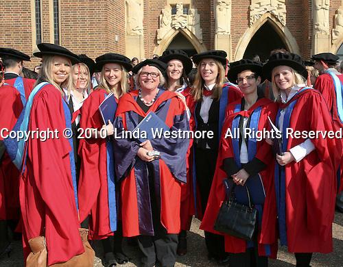 Happy post-graduates, University of Surrey.