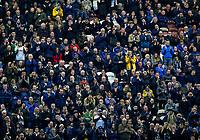 Preston North End fans watch on<br /> <br /> Photographer Alex Dodd/CameraSport<br /> <br /> The EFL Sky Bet Championship - Preston North End v Leeds United - Tuesday 22nd October 2019 - Deepdale Stadium - Preston<br /> <br /> World Copyright © 2019 CameraSport. All rights reserved. 43 Linden Ave. Countesthorpe. Leicester. England. LE8 5PG - Tel: +44 (0) 116 277 4147 - admin@camerasport.com - www.camerasport.com
