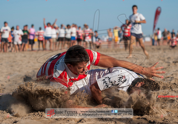 Segunda jornada del torneo de Rugby Playa Seven Tiburon en su 17ª edicion. <br /> Playa Malvarrosa (Valencia-España)<br /> 6 de julio de 2013.