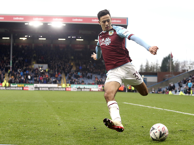 Burnley's Dwight McNeil<br /> <br /> Photographer Rich Linley/CameraSport<br /> <br /> Emirates FA Cup Third Round - Burnley v Barnsley - Saturday 5th January 2019 - Turf Moor - Burnley<br />  <br /> World Copyright © 2019 CameraSport. All rights reserved. 43 Linden Ave. Countesthorpe. Leicester. England. LE8 5PG - Tel: +44 (0) 116 277 4147 - admin@camerasport.com - www.camerasport.com