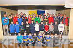 Medal Presentation : The St. Senan's U/13 & U/14 players who were presented with their North Kerry & County medals at the Clubhouse, Mountcoal on Friday evening last by former Kerry player Seamus Moynihan.
