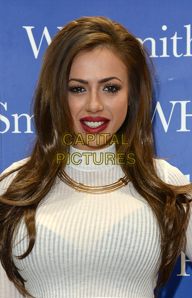 ESSEX, ENGLAND - OCTOBER 30: Actress Holly Hagan takes part in a booksigning to promote her book&quot;Not Quite A Geordie&quot; at WHSmith, on October 30th, 2014 at Lakeside Shopping Centre, Essex, England.<br /> CAP/DH<br /> &copy;David Hitchens/Capital Pictures