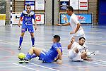 2015-10-30/ Voetbal / Seizoen 2015-2016/ Malle Beerse- Futsal Topsport Antwerpen / foto mpics.be / Smail El Faroussi ( l.Antwerp) en Umut Aktepe ( r. Malle) in een hevige strijdt om de bal.