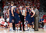 Illinois Fighting Illini Head Coach Bruce Weber talks to his team during a Big Ten Conference NCAA college basketball game against the Wisconsin Badgers on Sunday, March 4, 2012 in Madison, Wisconsin. The Badgers won 70-56. (Photo by David Stluka)