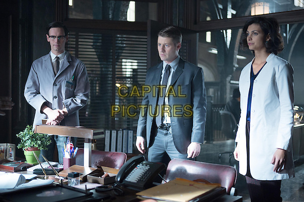 Cory Michael Smith, Ben McKenzie, Morena Baccarin<br /> in Gotham (2014&ndash; ) <br /> (Season 1)<br /> *Filmstill - Editorial Use Only*<br /> CAP/FB<br /> Image supplied by Capital Pictures