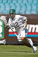 February 20, 2011:  Jacksonville Dolphins midfielder Barry Hillyer (12) during  Lacrosse action between the Georgetown Hoyas and Jacksonville Dolphins during the Moe's Southwest SunShine Classic played at EverBank Field in Jacksonville, Florida.  Georgetown defeated Jacksonville 14-11.