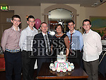 Sandra Reay celebrating her 50th birthday in the Thatch with husband Liam and sons Aaron, Craig, Bryan and James. Photo:Colin Bell/pressphotos.ie