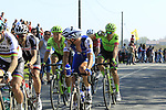Zdenek Stybar (CZE) Quick-Step, Dylan Van Barle and Sebastian Langeveld (NED) Cannondale-Drapac come off  pave sector 10 Merignies a Avelin during the 115th edition of the Paris-Roubaix 2017 race running 257km Compiegne to Roubaix, France. 9th April 2017.<br /> Picture: Eoin Clarke | Cyclefile<br /> <br /> <br /> All photos usage must carry mandatory copyright credit (&copy; Cyclefile | Eoin Clarke)