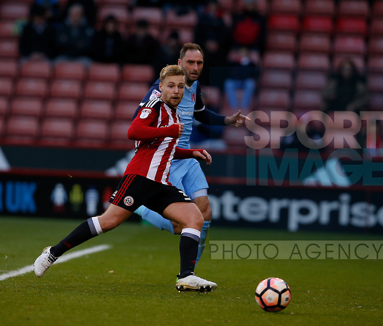 Harry Chapman of Sheffield Utd during the Emirates FA Cup Round One match at Bramall Lane Stadium, Sheffield. Picture date: November 6th, 2016. Pic Simon Bellis/Sportimage