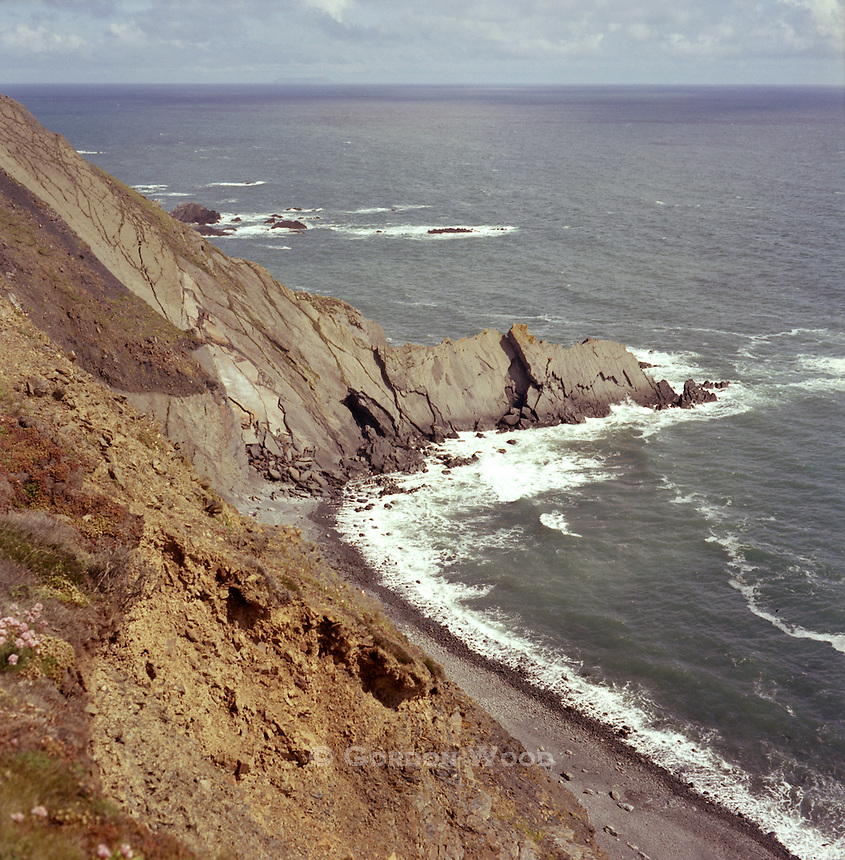 Cliffs and Erosion along Northern Cornish Coast