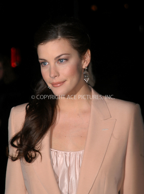 Actress Liv Tyler arrives at the 2003 National Review Board Awards Gala at the 'Tavern on the Green', New York City. January 13 2004. Please byline: AJ SOKALNER/NY Photo Press.   ..*PAY-PER-USE*      ....NY Photo Press:  ..phone (646) 267-6913;   ..e-mail: info@nyphotopress.com