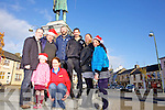 Getting ready for Christmas in Abbeyfeale was l-r: Kevin and Suin Kenneally (Kenneally Murphy Architects), Christy Kelliher(ADSAR),  Mary Healy(Eurosaver), Jim O'Connor(The Gathering), Donal O'Sea(ADSAR), Mary Fitzgerald(Superbites) and Breda O'Grady(Shakati).