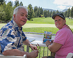 Tom and Jeanine during the Barracuda Championship PGA golf tournament at Montrêux Golf and Country Club in Reno, Nevada on Saturday, July 27, 2019.