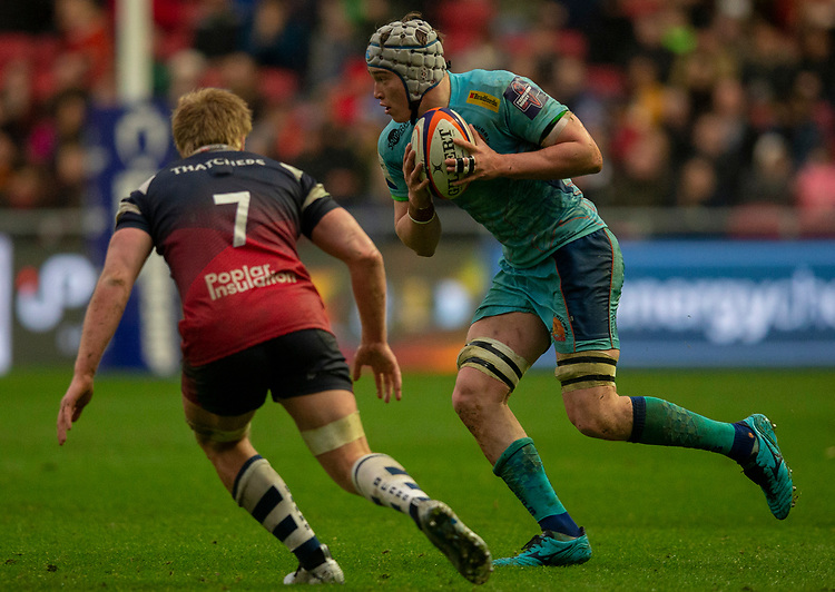 Exeter Chiefs' Richard Capstick in action during todays match<br /> <br /> Photographer Bob Bradford/CameraSport<br /> <br /> Premiership Rugby Cup Round 4 - Bristol Bears v Exeter Chiefs - Saturday 26th January 2019 - Ashton Gate - Bristol<br /> <br /> World Copyright © 2018 CameraSport. All rights reserved. 43 Linden Ave. Countesthorpe. Leicester. England. LE8 5PG - Tel: +44 (0) 116 277 4147 - admin@camerasport.com - www.camerasport.com