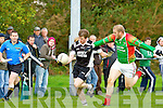 Darren Wallace Ardfert tries to get past Sean Connor St Michael's Foilmore during their Senior County Championship relegation play off in Listry on Saturday..