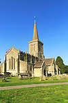 Church of Saint Mary the Virgin with steeple, Bishops Cannings, Wiltshire, England, UK
