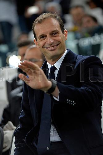 02.04.2016. Juventus Stadium, Turin, Italy. Serie A Football. Juventus versus Empoli. Massimiliano Allegri the coach of Juventus