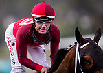 ARCADIA, CA - JANUARY 06: Tyler Baze wins the San Gabriel Stakes at Santa Anita Park on January 06, 2018 in Arcadia, California. (Photo by Alex Evers/Eclipse Sportswire/Getty Images)