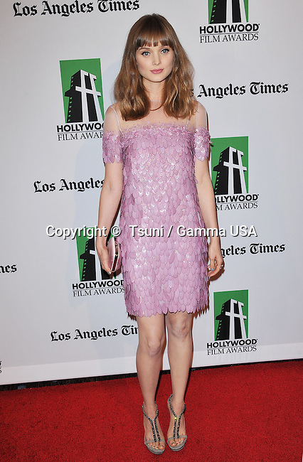 Bella Heathcote  at the 16th annual Hollywood Film Awards Gala - 2012 at the Beverly Hilton Hotel in Los Angeles.