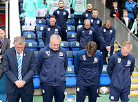 Blackburn Rovers manager Tony Mowbray, Mark Venus, David Lowe and Ben Benson <br /> <br /> Photographer Rachel Holborn/CameraSport<br /> <br /> The EFL Sky Bet Championship - Blackburn Rovers v Aston Villa - Saturday 15th September 2018 - Ewood Park - Blackburn<br /> <br /> World Copyright &copy; 2018 CameraSport. All rights reserved. 43 Linden Ave. Countesthorpe. Leicester. England. LE8 5PG - Tel: +44 (0) 116 277 4147 - admin@camerasport.com - www.camerasport.com