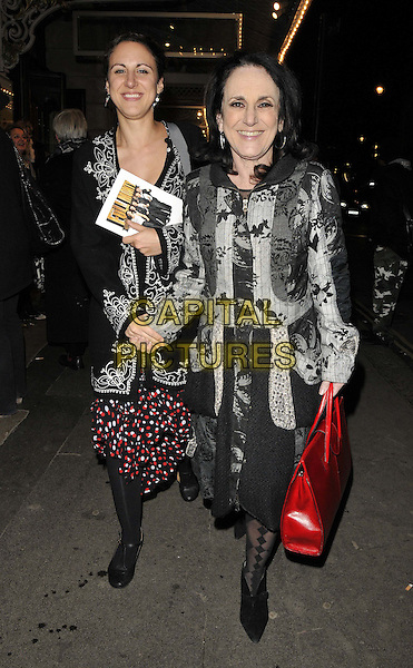 LONDON, ENGLAND - FEBRUARY 25: Lesley Joseph &amp; her daughter attend the &quot;The Full Monty&quot; press night, Noel Coward Theatre, St Martin's Lane, on Tuesday February 25, 2014 in London, England, UK.<br /> CAP/CAN<br /> &copy;Can Nguyen/Capital Pictures