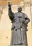 Pope Pius IX statue, cathedral church of the Assumption in citadel castle Il-Kastell, Victoria Rabat, Gozo, Malta