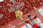 Elia Viviani (ITA) Team Sky wins Stage 2, The Capital Stage, of the 2015 Abu Dhabi Tour and takes over the race lead, running 129 km from Yas Marina Circuit to Yas Mall, Abu Dhabi. 9th October 2015.<br /> Picture: ANSA/Angelo Carconi | Newsfile