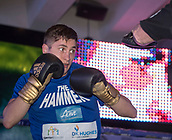 4th October 2017, National Football Museum, Manchester, England; Anthony Crolla and Ricky Burns public workout session; Hosea Burton during his training session