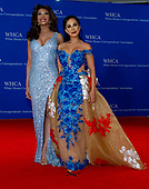 Fox News and Fox Business Network commentator Angela McGlowan, left, and Dr. Nina Radcliff, right, also of Fox News, arrive for the 2018 White House Correspondents Association Annual Dinner at the Washington Hilton Hotel on Saturday, April 28, 2018.<br /> Credit: Ron Sachs / CNP<br /> <br /> (RESTRICTION: NO New York or New Jersey Newspapers or newspapers within a 75 mile radius of New York City)