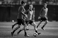 San Jose, CA - March 22, 2017: The USMNT train in preparation for their 2018 FIFA World Cup Qualifying Hexagonal match against Honduras at Avaya Stadium.