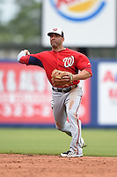 Washington Nationals second baseman Danny Espinosa (8) during a spring training game against the New York Mets on March 27, 2014 at Tradition Field in St. Lucie, Florida.  Washington defeated New York 4-0.  (Mike Janes/Four Seam Images)