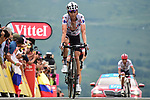 Polka Dot Jersey Warren Barguil (FRA) Team Sunweb crosses the finish line at Peyragudes at the end of Stage 12 of the 104th edition of the Tour de France 2017, running 214.5km from Pau to Peyragudes, France. 13th July 2017.<br /> Picture: ASO/Pauline Ballet | Cyclefile<br /> <br /> <br /> All photos usage must carry mandatory copyright credit (&copy; Cyclefile | ASO/Pauline Ballet)