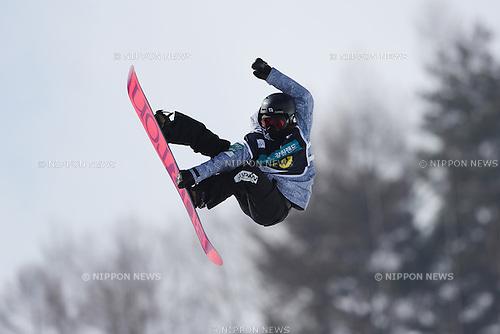 Hikaru Oe (JPN), <br /> FEBRUARY 17, 2017 - Snowboarding : <br /> FIS Snowboard World Cup <br /> Women's Halfpipe Qualification<br /> at Bokwang Phoenix Park, PyeongChang, South Korea. <br /> (Photo by YUTAKA/AFLO SPORT)