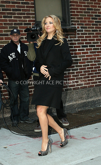 WWW.ACEPIXS.COM . . . . .  ....December 10 2009, New York City....Actress Kate Hudson made an appearance at 'The Late Show with David Letterman' on December 10 2009 in New York City....Please byline: NANCY RIVERA- ACEPIXS.COM.... *** ***..Ace Pictures, Inc:  ..Tel: 646 769 0430..e-mail: info@acepixs.com..web: http://www.acepixs.com