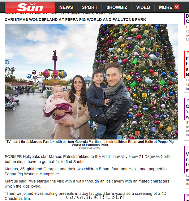 The Sun (UK). December 19th 2014. Picture used in main paper and online.<br />