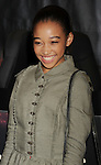 LOS ANGELES, CA - MARCH 22: Amandla Stenberg of Lionsgate's 'The Hunger Games' poses at Barnes & Noble at The Grove on March 22, 2012 in Los Angeles, California.