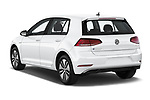 Car pictures of rear three quarter view of a 2019 Volkswagen e-Golf Base 5 Door Hatchback angular rear