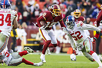 Landover, MD - December 9, 2018: Washington Redskins wide receiver Josh Doctson (18) catches a pass during the  game between New York Giants and Washington Redskins at FedEx Field in Landover, MD.   (Photo by Elliott Brown/Media Images International)