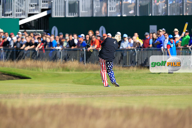 John Daly (USA) in action on the 18th hole during Sunday's Final Round of the 141st Open Championship at Royal Lytham & St.Annes, England 22nd July 2012 (Photo Eoin Clarke/www.golffile.ie)