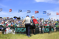 Andrew &quot;Beef&quot; Johnson (ENG) walks onto the 1st tee to start his match during Thursday's Round 1 of the 117th U.S. Open Championship 2017 held at Erin Hills, Erin, Wisconsin, USA. 15th June 2017.<br /> Picture: Eoin Clarke | Golffile<br /> <br /> <br /> All photos usage must carry mandatory copyright credit (&copy; Golffile | Eoin Clarke)