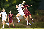 04 October 2012: UNC's Amber Brooks (22) and Boston College's Kate McCarthy (21). The University of North Carolina Tar Heels defeated the Boston College Eagles 1-0 at Fetzer Field in Chapel Hill, North Carolina in a 2012 NCAA Division I Women's Soccer game.